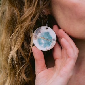 Ceramic Earrings (Round)